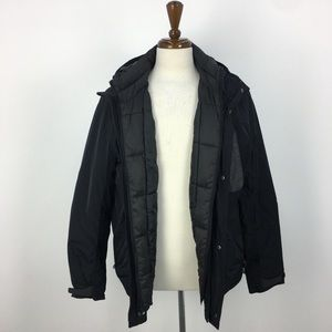 American Eagle Outfitters Black and Gray Jacket